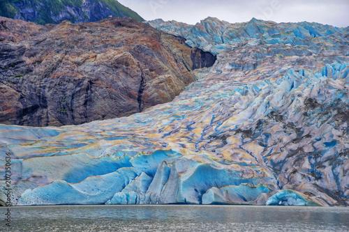 Aluminium Donkergrijs Mendenhaul Glacier Alaska