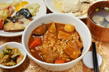 Pork curry with rice in a bowl - 207357076