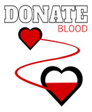 donate blood design with hearts - 207364699