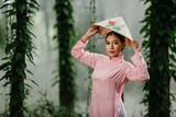 Beautiful woman with Vietnam culture traditional dress,Vietnam - 207371800