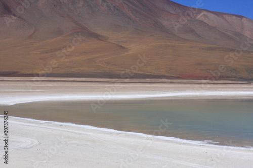 Fotobehang Cappuccino Salar de Uyuni in Bolivia