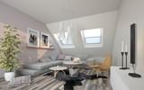 Wohnzimmer im Dachgeschoss - 207378457