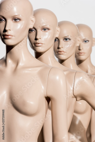 Naked people close up