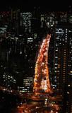 Night view in Tokyo Japan
