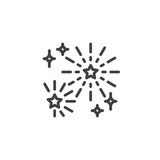 Fireworks outline icon. linear style sign for mobile concept and web design. Firework stars simple line vector icon. Symbol, logo illustration. Pixel perfect vector graphics - 207394623