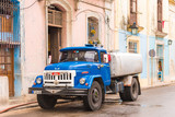 CUBA, HAVANA - MAY 5, 2017: Russian truck zil. Copy space for text.