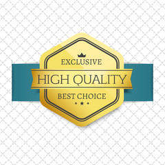 Exclusive High Quality Choice Golden Award Label