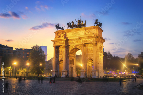Plexiglas Milan Arch of Peace - Sempione Park, Milan, Italy
