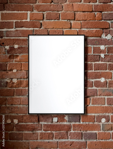 blank poster, mockup, project presentation © mateusz