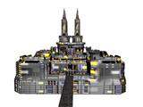 Burg mit Türmen und Zinnen - 207409200