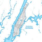 Map of the island of Manhattan, New York City - 207411682