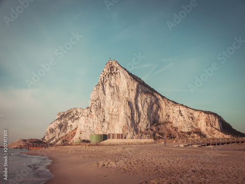 Foto Murales View to the rock of Gibraltar