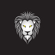 Lion head icon logo. Vector illustration