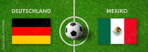 Leinwanddruck Bild Fußball - Deutschland gegen Mexiko
