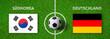 Leinwanddruck Bild - Fußball - Südkorea gegen Deutschland