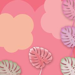 sfondo rosa con foglie