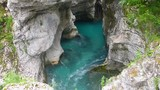 Beautiful turquoise water flowing in a canyon in Croatia - 207420469