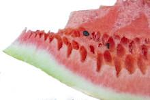 Cut Pulp Of Watermelon  Bones Sticker