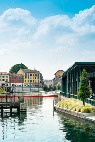 Canvas Milan MILAN, ITALY - May 29, 2018: street view of downtown milan, capital of the Lombardy region, ranking 4th in the European Union