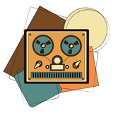 video tape player retro vector illustration design - 207436031