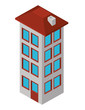 building construction isometric icon vector illustration design