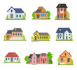 Set of house flat icons