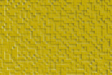 Gold or yellow abstract geometric cube or box shape background or patter design.