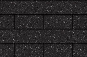Asphalt roof shingles, seamless pattern, rectangles, vector illustration © kovalto1