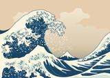 vague - mer - japon - Fujiyama - mont Fuji - Hokusai - symbole - tempête - concept - montagne -