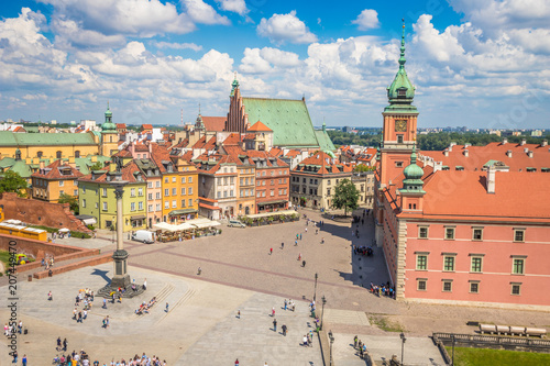 Nice panoramic view of Old Town Warsaw