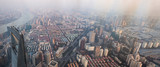 Iconic Shanghai from above the sky - Haze - TV Oriental Tower - Sunset - 207471207