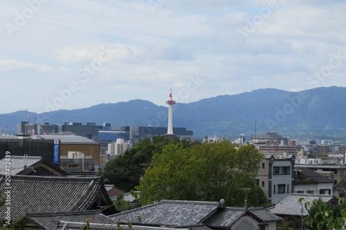 Fotobehang Kyoto 京都の空の風景