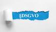 Leinwanddruck Bild - §DSGVO  Datenschutz Grundverordnung