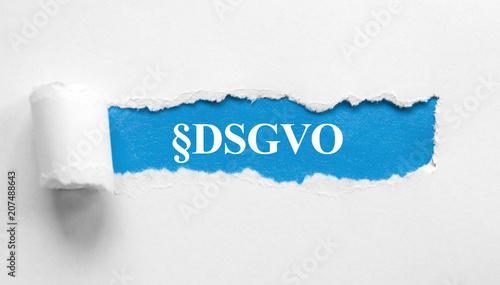Leinwanddruck Bild §DSGVO  Datenschutz Grundverordnung