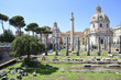 Rome, ruins of the imperial forums and the Trajan column