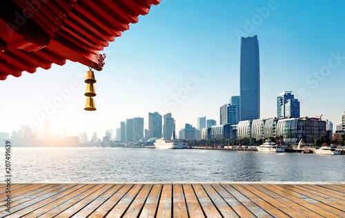 Fotobehang Shanghai Shanghai city skyline