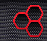 Background 3D with hexagons
