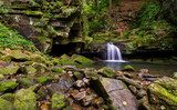 Satiny waterfall pano
