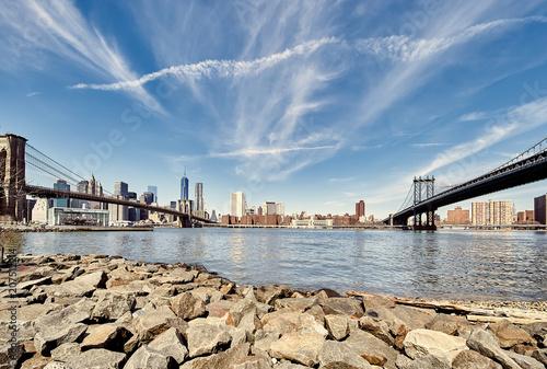 Aluminium Brooklyn Bridge Manhattan skyline view from Brooklyn