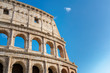 Colosseum in Rome, Italy. Roman Colosseum is one of the main travel attractions. Colosseum in the sunlight.