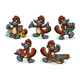 Platipus Boardgame Mascot Design Vector
