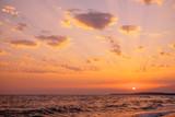 Sundown over sea.