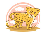 Little cheetah on white background - 207548051
