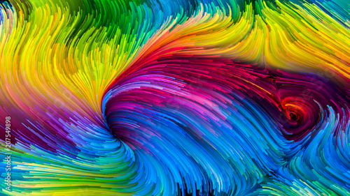 Kolorowa farba Sztuczna