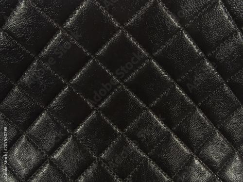 Obraz na płótnie Black square shape leather background