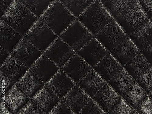 Black square shape leather background