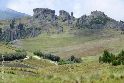 Fotobehang Olijf Rock formation on Cumbemayo