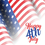4th July background with American flag - 207588055