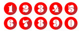 Numbers / red circle Icons - 207599045