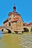 Bamberg, Altes Rathaus, Regnitzbrücken